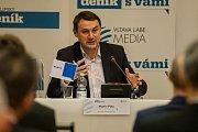 Setkání s hejtmanem Libereckého kraje Martinem Půtou proběhlo 15. prosince v Liberci. Na snímku je hejtman Libereckého Kraje Martin Půta.