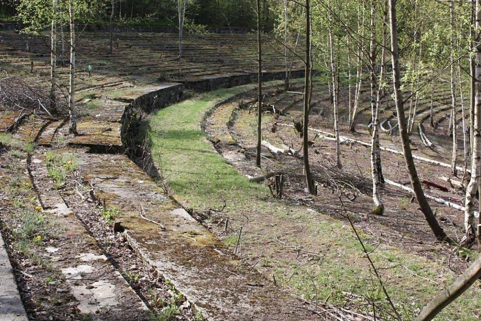 Lesní koupaliště v Liberci.