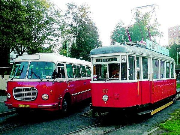 Historická tramvaj oslaví výročí 60let na trati  Tramvaj typu 6MT č. 117vyjede vden státního svátku znovu na trať mezi Jabloncem nad Nisou a Prosečí, kde proběhne imalá oslava.