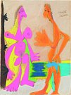 Pablo Picasso: Akt stojícího muže a ženy, kvaš, 1969, sbírka Helmuta Klewana.