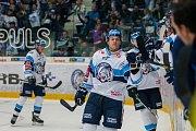 Utkání 6. kola Tipsport extraligy ledního hokeje se odehrálo 30. září v liberecké Home Credit areně. Utkaly se celky Bílí Tygři Liberec a BK Mladá Boleslav. Na snímku je Tyler Redenbach.