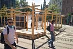 Studenti vytvořili v centru odpočinkovou zónu.
