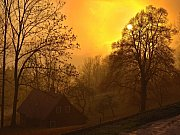 Západ slunce na Příchovicích.