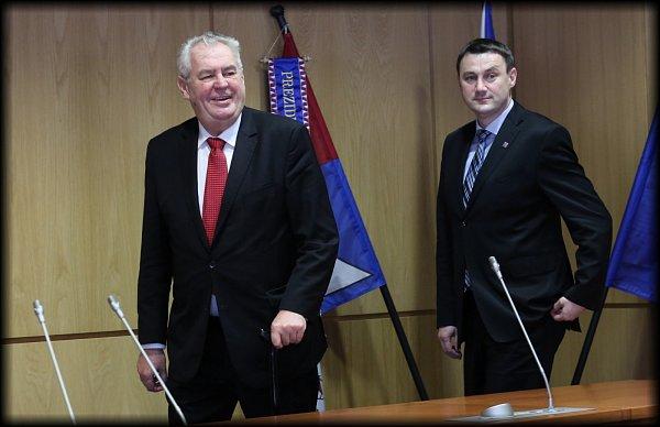 Miloš Zeman a Martin Půta.