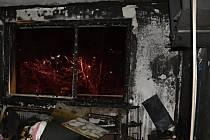 Požár bytu v panelovém domě v Liberci.