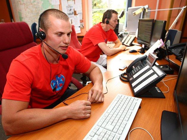 Operační středisko Zdravotnické záchranné služby Libereckého kraje.