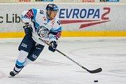 Utkání 16. kola Tipsport extraligy ledního hokeje se odehrálo 2. listopadu v liberecké Home Credit areně. Utkaly se celky Bílí Tygři Liberec a Piráti Chomutov. Na snímku je Martin Ševc.