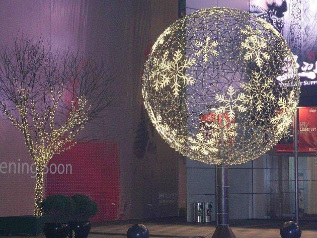 Vánoční výzdoba po čínsku je velmi jemná, vkusná a nápaditá