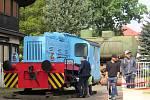 Lokomotiva Adolf se přestěhovala z libereckého nádražního depa na Masarykovu třídu před Technické muzeum. Zapůjčila ho tam Nadace Okřídlené křídlo.