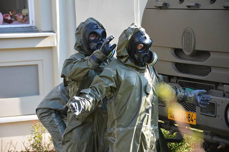 Vilém Blažek při nasazení v jarní vlně pandemie koronaviru.