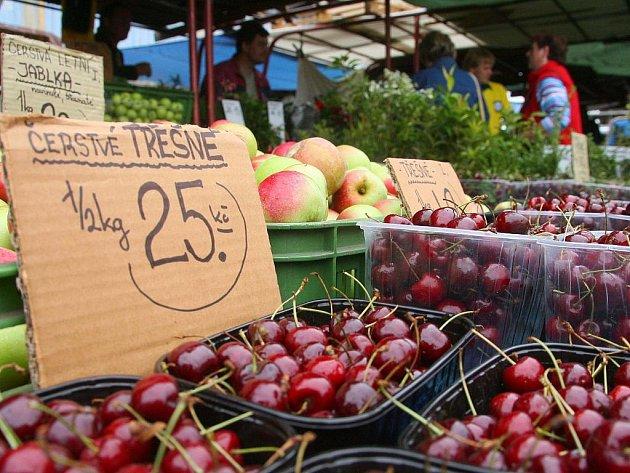 Z VLASTNÍ ZAHRÁDKY. Dříve běžný trh s místními potravinami z českých měst málem vymizel kvůli supermarketům.
