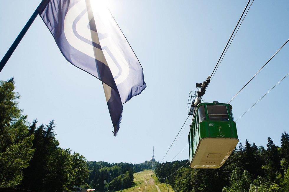 Spuštění provozu lanovky na Ještěd.