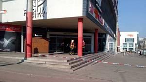 Evakuace OC Forum v Liberci