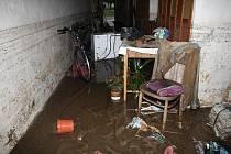 Chrastava. Dům na náměstí, kterého vyplavila voda v sobotu 7. srpna.