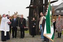 ŽEHNÁNÍ vlajky se zúčastnil i ministr vnitra Milan Chovanec.