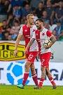 Utkání Slovanu Liberec proti Slavii Praha. Tomáš Souček (vlevo) a Danny Miguel Alves Gomes