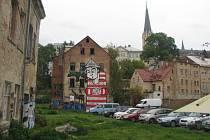 Papírové náměstí v Liberci.