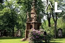 Barokní zahrada u kostela Nalezení sv. Kříže.