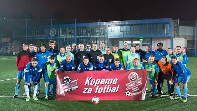 Fotbalisté Krasného Lesa si zahráli proti ligovému Slovanu Liberec.