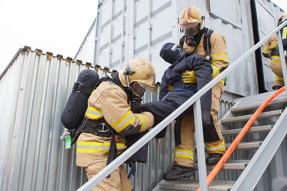Představení 2. etapy výcvikového kontejneru pro hasiče v Raspenavě.