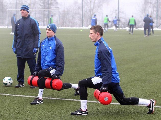 Na Jiřího Fleišmana (vpravo) a Ondřeje Kušníra dohlíží Trenér Šilhavý