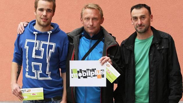 NEJLEPŠÍ KANONÝŘI LIBERECKA. Zleva David Ráž, Štefan Mihálik a Martin Štrbák.