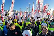 Protest v Lucemburku.