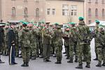 V symbolický čas 11:11 se pak sešli vojáci v kasárnách 31. pluku radiační, chemické a biologické ochrany ke slavnostnímu nástupu. Při ceremoniálu obdrželi vybraní vojáci vojenská vyznamenání.