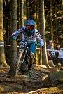 Finále závodu světové série horských kol ve fourcrossu JBC 4X Revelations proběhlo 14. července v bike parku Dobrý Voda v Jablonci nad Nisou. Na snímku je biker Hannes Slavik.