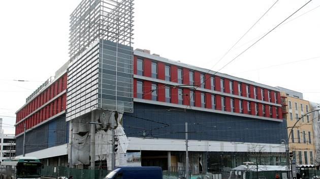 Stavba obchodního centra Forum Liberec.