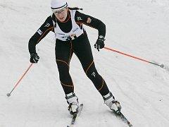 Petra Hynčicová na závodě v Bedřichově v březnu 2011.