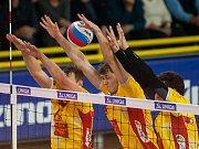 Utkání 1. kola volejbalové UNIQA Extraligy VK Dukla Liberec - VolleyTeam ČZU Praha.