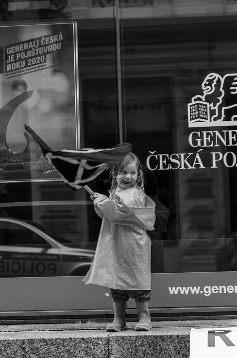 Happening u liberecké pobočky pojišťovny Generali.