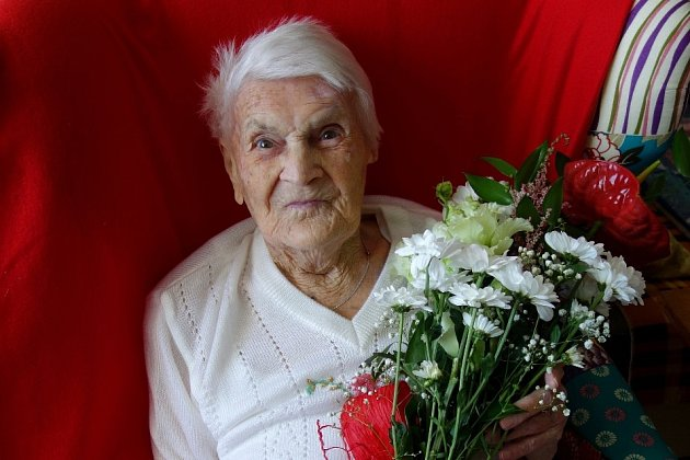 Marie Jermanová oslavila 3. července své 101. narozeniny.