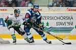 Utkání 31. kola Tipsport extraligy ledního hokeje se odehrálo 20. prosince v liberecké Home Credit areně. Utkaly se celky Bílí Tygři Liberec a BK Mladá Boleslav. Na snímku vpravo Lukáš Krenželok.