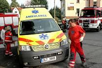 Dopravní nehoda dvou osobních automobilů.