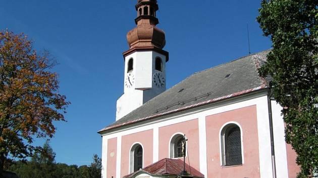 Kostel svatého Mikuláše v Mníšku.