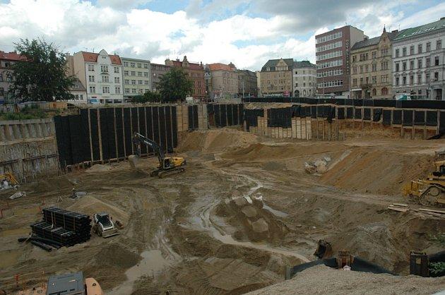 Budoucí obchodní centrum Liberec Plaza.