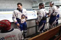 Odstartoval v Liberci amatérský hokejový turnaj, kde se představil také hvězdný tým HC Olymp Praha v čele s Martinem Dejdarem.