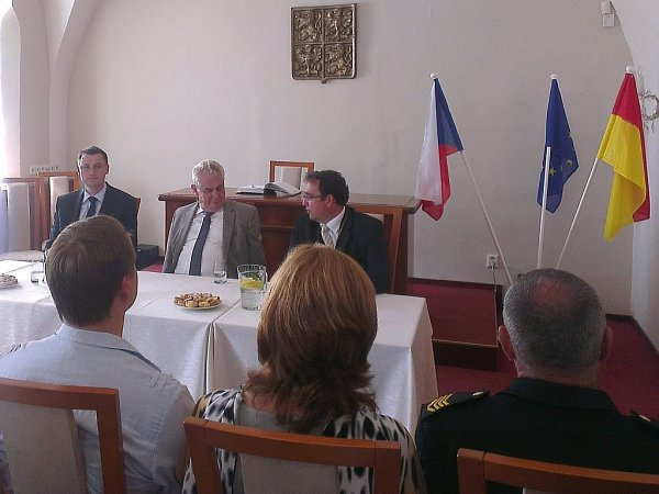 Miloš Zeman vNovém Boru.