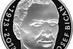 Legendární fotbalista Josef Bican na pamětní minci