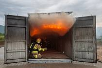 V Raspenavě na Liberecku hasiči v roce 2017 zahájili provoz ohňového polygonu, zařízení pro simulaci reálných podmínek požárů.