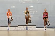 VÍTĚZSTVÍ. Šampionka Veronika Uchytilová vyhrála v kategorii starších žaček se známkou 18,45 bodu.