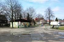 Autobusové nádraží v Chrastavě.
