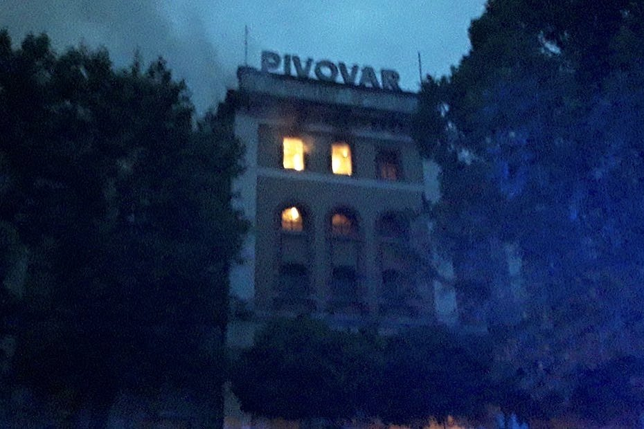 Požár pivovaru ve Vratislavicích