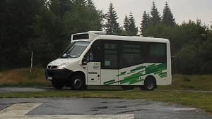 První den provozu nové autobusové linky 790 na trase Smědava - Tanvald