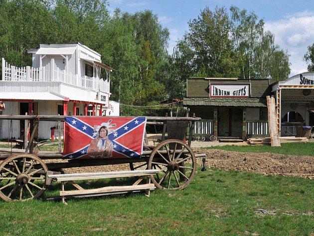 Westernové městečko u Hrádku