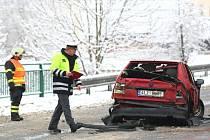 Dopravní nehoda z dopoledních hodin ve směru na Českou Lípu.