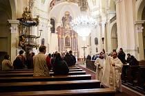 Velikonoční vigilie konaná v kostele Navštívení Panny Marie v Hejnicích.