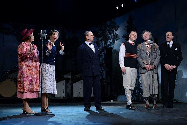 SWINGOVÝ SATURNIN vrežii Ondřeje Havelky a vpodání herců Divadla ABC.